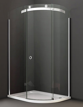 Merlyn 10 Series 1000 x 800mm 1 Door Offset Quadrant Enclosure Left Hand