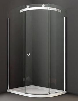 10 Series 1000 x 800mm 1 Door Offset Quadrant Enclosure Left Hand