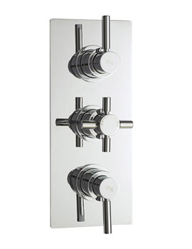 Hudson Reed Tec Pura Plus Triple Concealed Thermostatic Valve - A3003