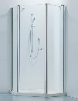 Related Adamsez Pentagonal Hinged Door Shower Enclosure 1000 x 1000mm With Tray
