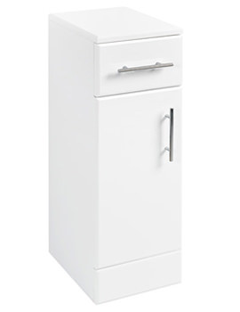 Floor Standing Cabinet 250 x 330mm High Gloss White
