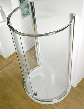 Related Infinite Peninsula 1200mm Curved Slider Door With Tray And Waste