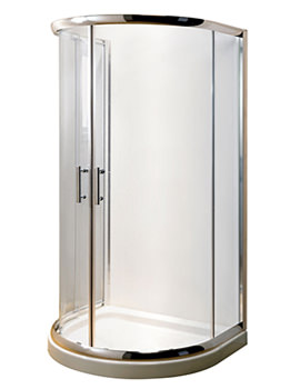Related Lauren Pacific D Shape Shower Enclosure 1050 x 950mm And Tray