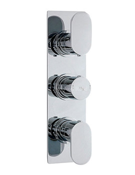 Hudson Reed Reign Triple Concealed Thermostatic Shower Valve