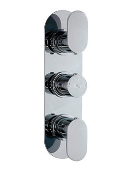 Hudson Reed Reign Triple Concealed Thermostatic Shower Valve - REI3411
