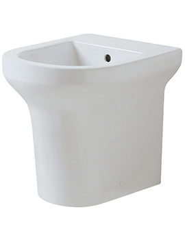 Thin 1 TH Floor Standing Back-To-Wall Bidet 560mm Projection