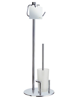 Smedbo Outline Free Standing Toilet Roll Holder And Toilet Brush -FK301