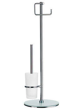Smedbo Outline Free Standing Toilet Roll Holder And Toilet Brush Set