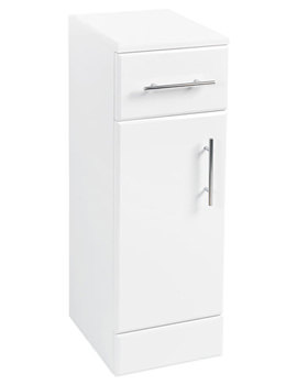 250 x 300mm Furniture Cupboard High Gloss White