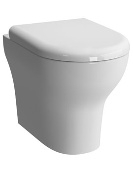 Zentrum 520mm Back To Wall WC Pan With Toilet Seat