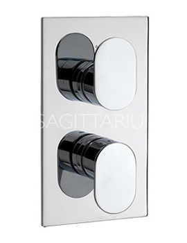 Sagittarius Plaza Concealed Thermostatic Shower Valve With 2 Way Diverter