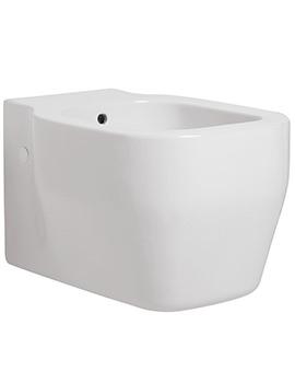Glaze Wall Hung 1 Tap Hole Bidet 360 x 520mm Gloss White