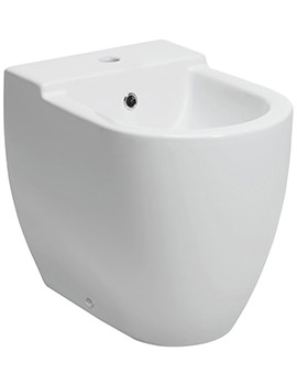 Bauhaus Stream II 1 Tap Hole Back To Wall Bidet 580mm - RG8007CW