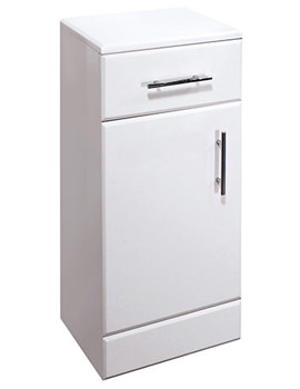Gem White Cupboard Unit 350mm - EF106W