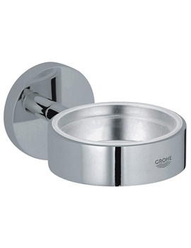 Essentials Chrome Glass Soap Dish Holder - 40369000
