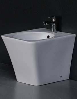 Opulence Bidet With Click Clack Waste 547mm White