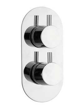 Xcite Single Outlet Dual Control Concealed Thermostatic Shower Valve