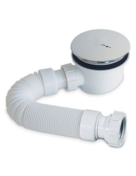 90mm Fastflow Shower Waste And Flexipipe Connector - PBSTW
