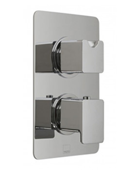 Vado Phase Concealed 2 Handle Thermostatic Shower Valve - 1 Outlet