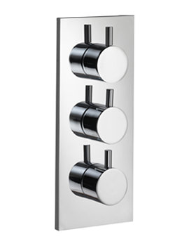 Pura Ivo Twin Outlet Triple Control Concealed Thermostatic Shower Valve