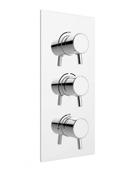 Related Heritage Orbit Chrome Dual Control Recessed Shower Valve With Twin Stopcocks