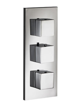 Sq2 Twin Outlet Triple Control Concealed Thermostatic Shower Valve