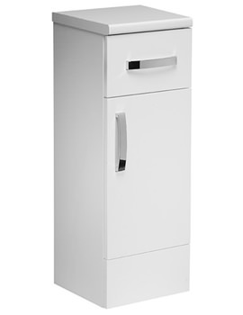 Courier 300mm White Gloss Floor Cupboard
