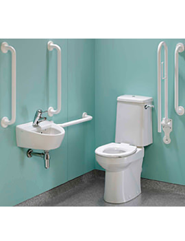 Doc.M Rimless Super CC WC Pack With White Grab Rails And Seat