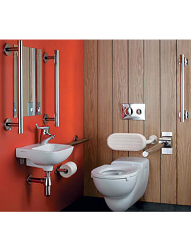 Doc M Left Hand Wall Hung Pack With Chrome Rails