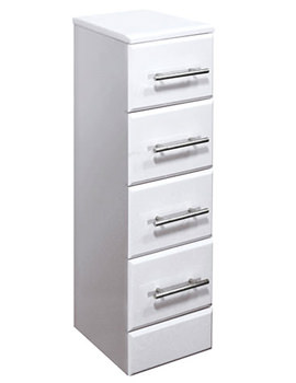 Gem White 4 Drawer Unit 350x766mm - EF107W