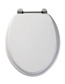 Axis Real Wood Toilet Seat White Finish - 8065WH