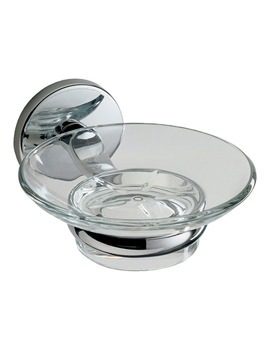Lincoln Glass Soap Dish And Holder - 73014