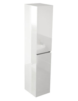 Echo White Gloss 350 x 1500mm Double Door Tall Storage Unit