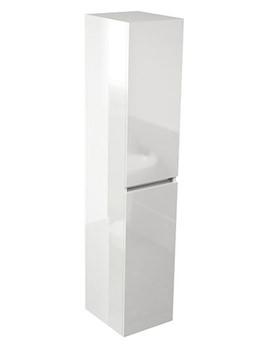 Echo White Gloss 350 x 1500mm Double Door Tall Storage Unit