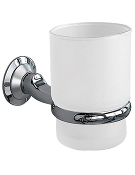 Metro Frosted Glass Tumbler And Holder - 6303C-S