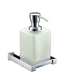 Related Bristan Qube Wall Mounted Frosted glass Soap Dispenser - QU SOAP C