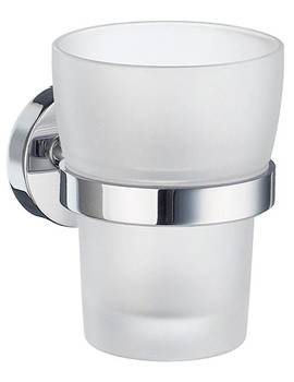 Home Frosted Glass Tumbler With Holder