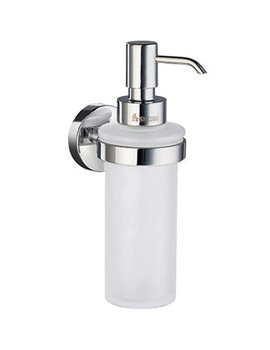 Home Frosted Glass Soap Dispenser With Holder - HK369