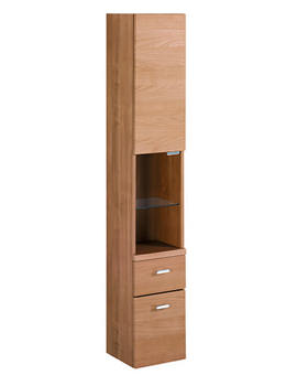 Concept 300mm Wall Hung Tall Unit With Drawers