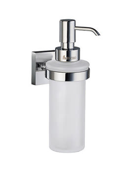 House Frosted Glass Soap Dispenser With Holder - RK369
