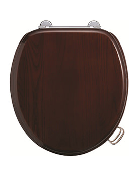 Mahogany Toilet Seat With Bar Hinge - S12