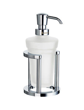 Outline Free Standing Glass Soap Dispenser With Holder - FK201