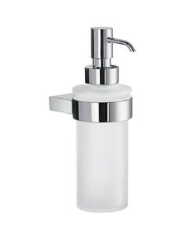 Air Frosted Glass Soap Dispenser With Holder - AK369