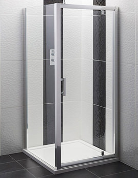 Framed Pivot Shower Door 760mm - AQPD76