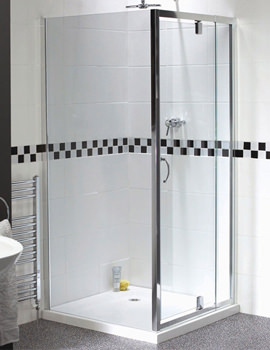 Shine Telescopic Pivot Shower Door 760-900mm - FEN0894AQU