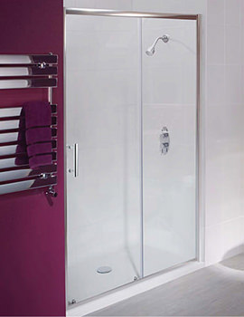 Beo Framed Sliding Shower Door 1100mm - AQSL11