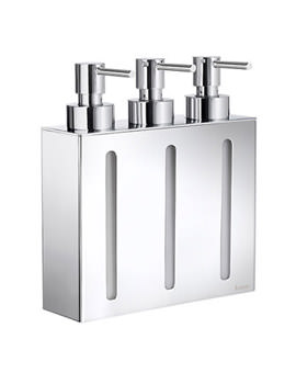 Smedbo Outline Wall mounted Triple Soap Dispenser - FK259