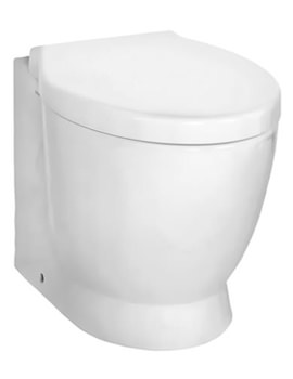 VitrA Sunrise Back-To-Wall WC Pan With Toilet Seat - 5385B003-0075