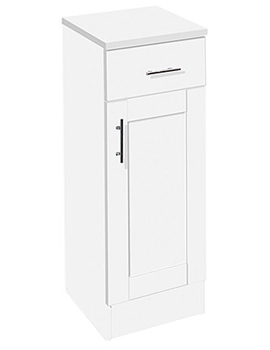 New England 300mm White Floor Cupboard - N79FCW
