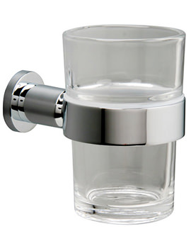 Montana Clear Glass Tumbler And Holder - 6703C